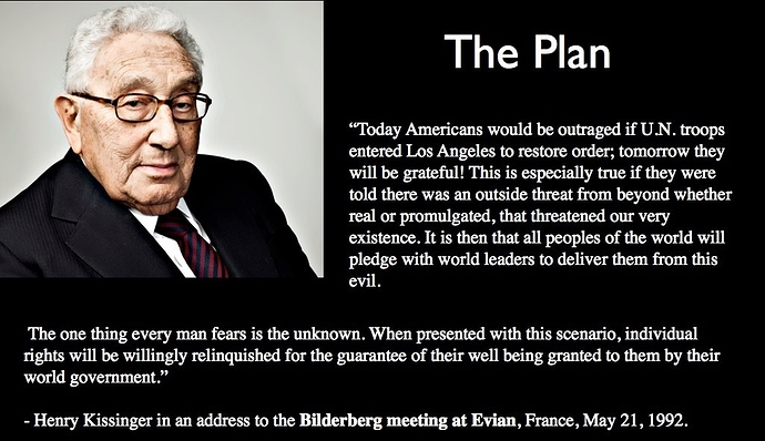 Henry Kissinger Quote - NWO